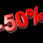 50% rabatu na zasiłek dla bezrobotnych